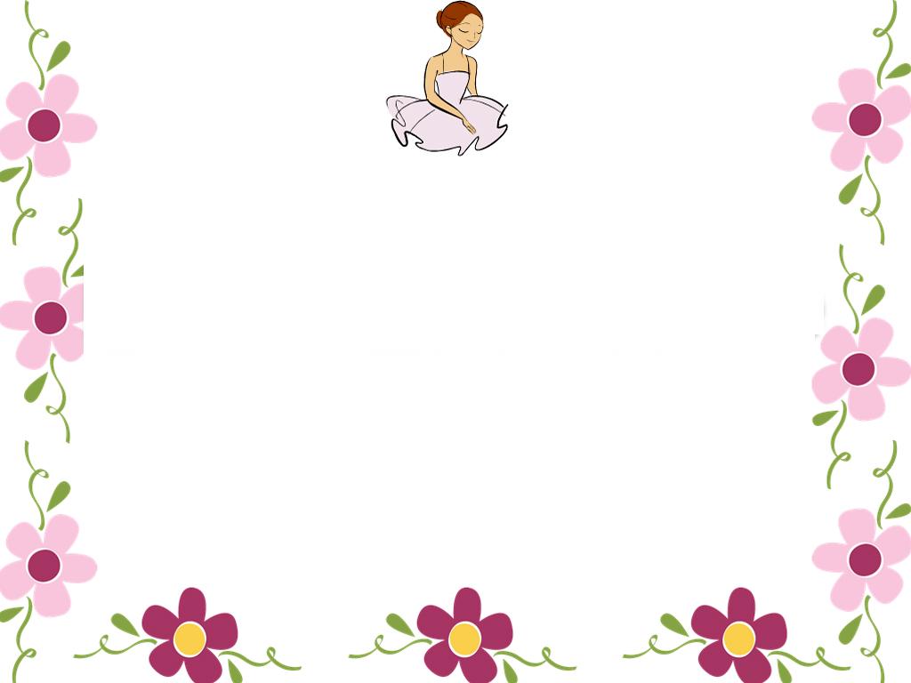Free Summer Flower Border