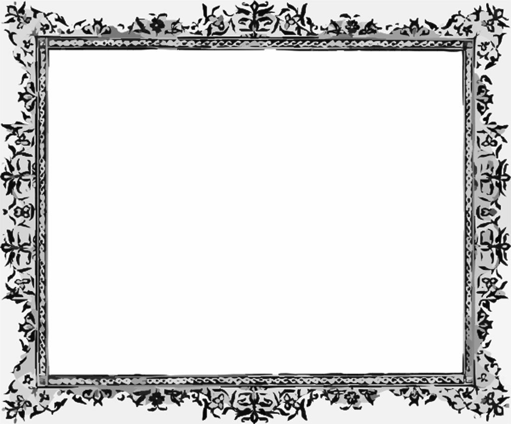Black and White Border Templates